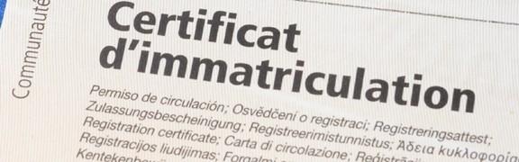 Certificat d'immatriculation ou carte grise