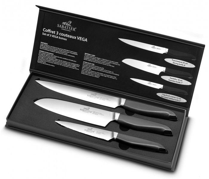 Coffret de 3 couteaux de cuisine de la marque Sabatier